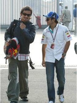 Vitantonio Liuzzi and Felipe Massa