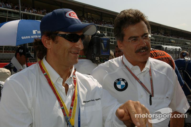 Dr Mario Theissen y Alex Zanardi