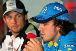 FIA press conference: Jenson Button and Fernando Alonso