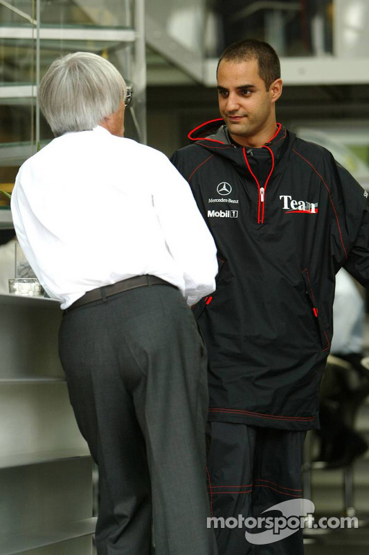 Bernie Ecclestone y Juan Pablo Montoya