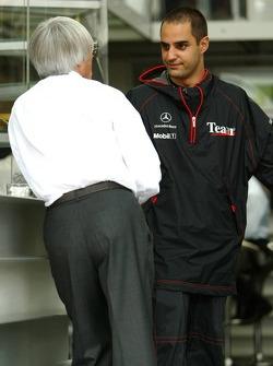 Bernie Ecclestone and Juan Pablo Montoya