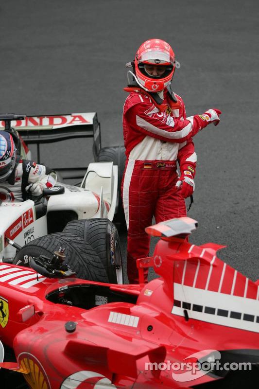 Michael Schumacher esta enojado