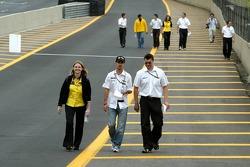 Tiago Monteiro walks the track