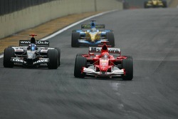 Michael Schumacher passes Robert Doornbos