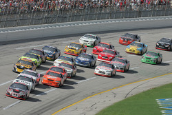 Kevin Harvick leads Ryan Newman