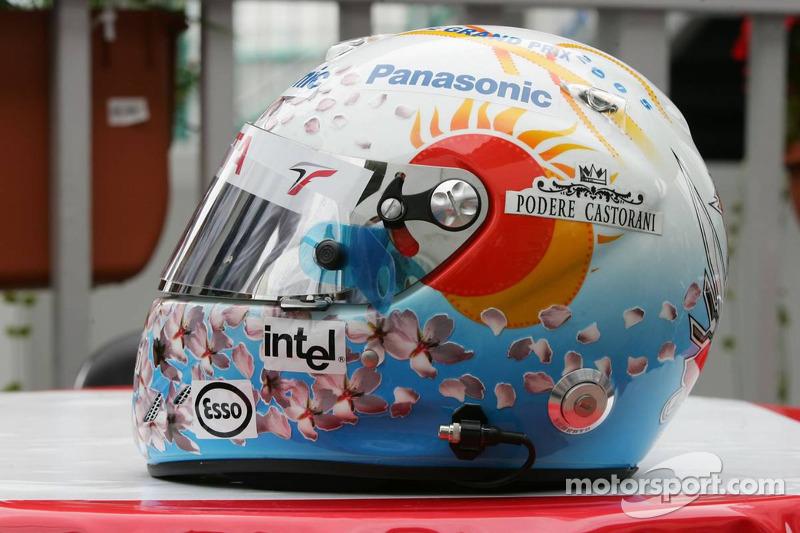 Casco de Jarno Trulli para el GP Japón