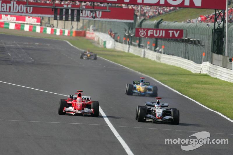 Kimi Raikkonen pasa Michael Schumacher