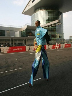 Preparations for Sunday's pre-race ceremony