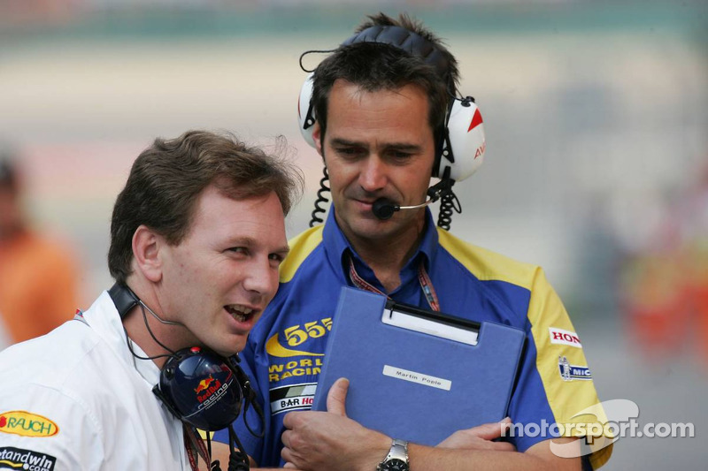 Christian Horner and Martin Pople