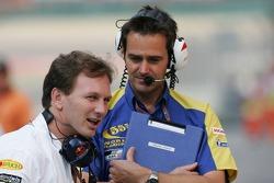 Christian Horner and Martin Pople