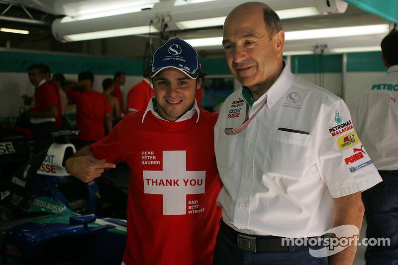 Felipe Massa se despide de Peter Sauber