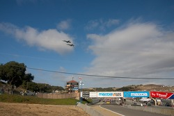 Military aircraft flyover