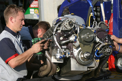 Engine change on the Lowe's Chevy
