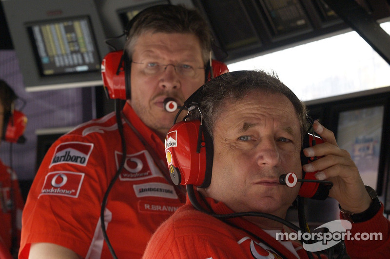 Jean Todt and Ross Brawn
