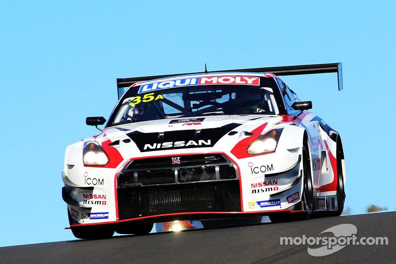 #35 NISMO Athlete Global Team, Nissan GT-R NISMO GT3: Florian Strauss, Katsumasa Chiyo, Wolfgang Rei