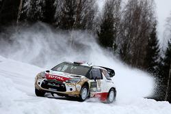 Mads Ostberg en Jonas Andersson, Citroen DS3 WRC, Citroen Total Abu Dhabi World Rally Team