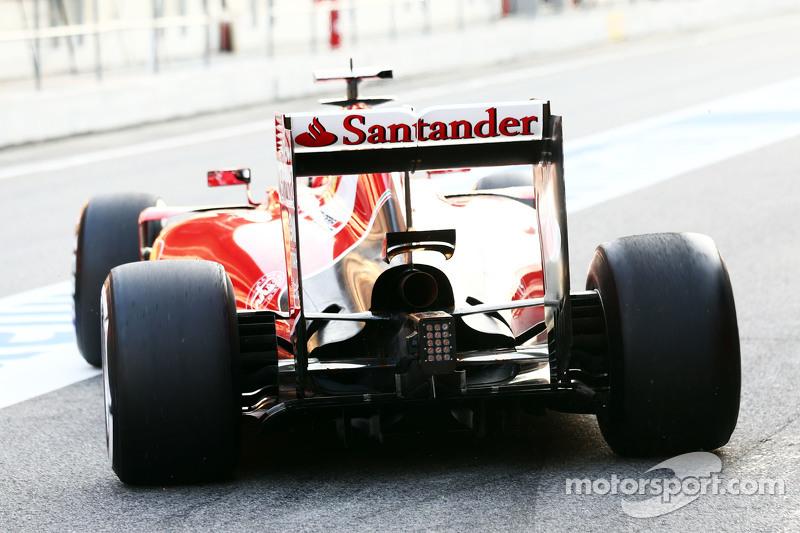 Kimi Räikkönen, Ferrari SF15-T, Detailaufnahme von Heckflügel und hinterem Diffusor