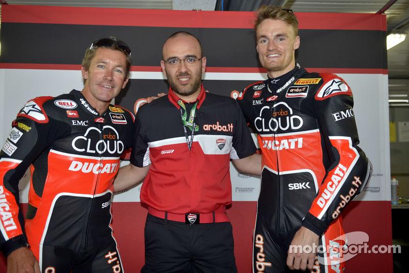 Troy Bayliss und Chaz Davies, Ducati Corse