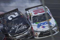 Brian Scott, Richard Childress Racing Chevrolet and Erik Jones, Joe Gibbs Racing Toyota in trouble