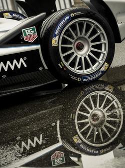 Formel-E-Auto bei Medientermin in Genf