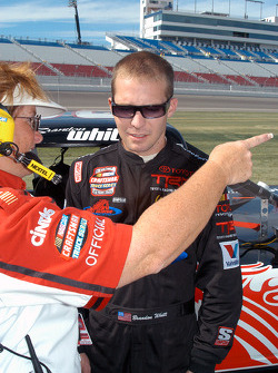 Brandon Whitt receives final instructions before qualifying