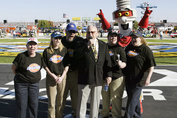 Bruton Smith, owner of the Texas Motor Speedway, is joined by the Dickies finalists from the