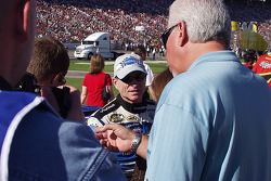 Mark Martin about to climb in