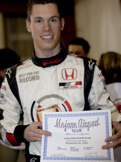 Alan van der Merwe et son attestation de record de vitesse