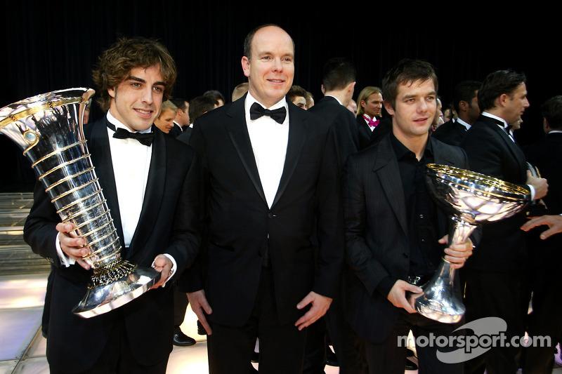 #2: Fernando Alonso, Prinz Albert II von Monaco und Sébastien Loeb