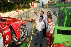 Fabrizio Giovanardi after his crash