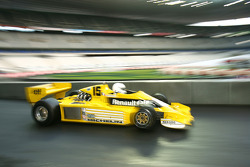 René Arnoux in the Renault F1 RS01, the first ever Renault F1