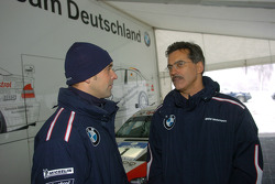 Dr Mario Theissen (BMW Motorsport Director) with Jorg Muller