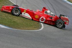 Michael Schumacher spins off the track