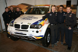 X-raid: drivers and co-drivers Nasser Al Attiyah, Alain Guehennec, Alfie Cox, Ralph Pitchford, Guerlain Chicherit and Matthieu Baumel with the X-raid BMW X3 CC