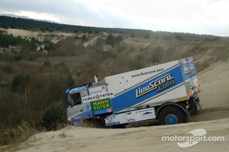 Equipe Tomas Tomecek Letka Racing: Tomas Tomecek, Vojtech Moravek et Vlastimil Buchtyar essaient la