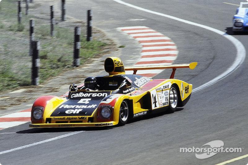 La Renault-Alpine A442A n°4 Ecurie Calberson : Jean Ragnotti, Guy Fréquelin, José Dolhem, Jean-Pierre Jabouille