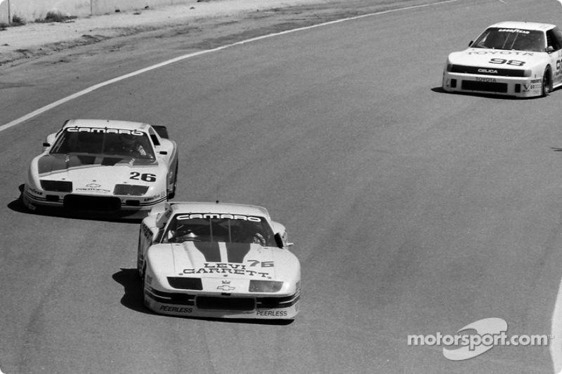 #76 Peerless/Hendrick Camaro: Jack Baldwin,  #26 Protofab Camaro: Wally Dallenbach Jr.,  #98 All American Racers Celica Turbo: Chris Cord