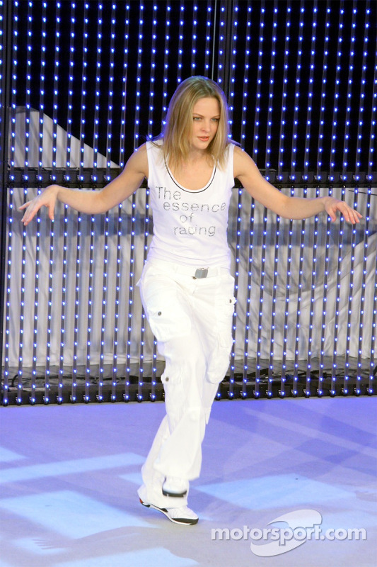 A model on stage