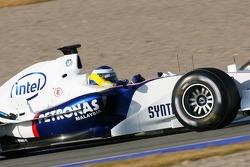 Nick Heidfeld tests the BMW Sauber F1.06