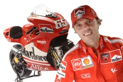 Loris Capirossi with the new Ducati Desmosedici GP6