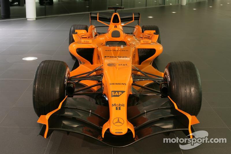 The new McLaren MP4-21 at the McLaren Technology Center