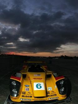 Porsche RS Spyder bodywork sits in the paddock