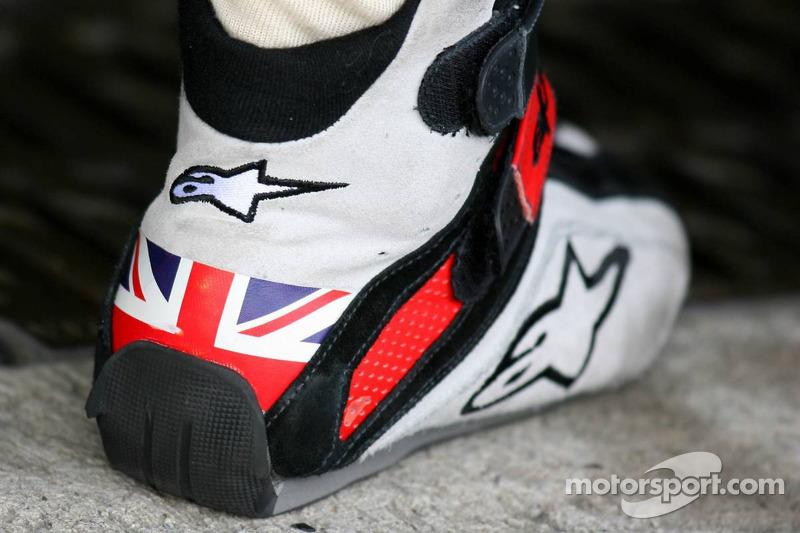 Shoe of Jenson Button