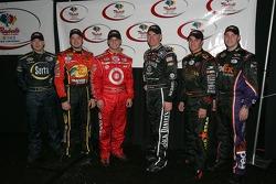 Les prétendants pour le Raybestos Rookie de l'année 2006 : Brent Sherman, Martin Truex Jr., Reed Sorenson, Clint Bowyer, David Stremme et Denny Hamlin
