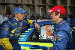 Petter Solberg and Sébastien Loeb discuss