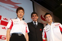 Yuji Ide, Aguri Suzuki et Takuma Sato