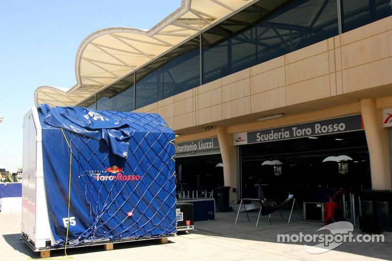 Scuderia Toro Rosso pit area