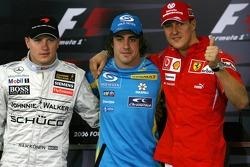 FIA press conference: Kimi Raikkonen, Fernando Alonso and Michael Schumacher