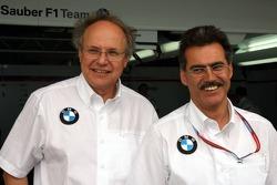 BMW Sauber photoshoot: Burkhard Goschel and Dr Mario Theissen