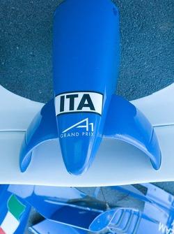 Le nez de la voiture Team Italy